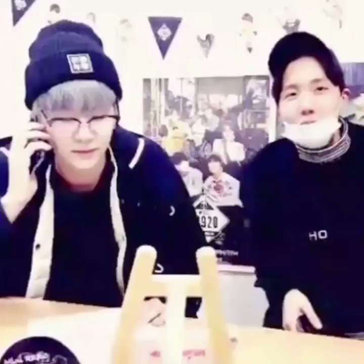 yoongi:  hoseok: i'm not leaving until you laugh