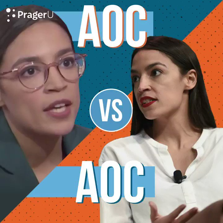 Image for the Tweet beginning: WATCH:@AOC fact-checks AOC on the