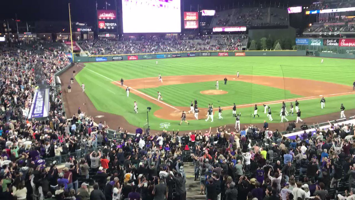Trevor Story with the walk-off home run, his second of the game and the 12th multi-homer game of his early career.