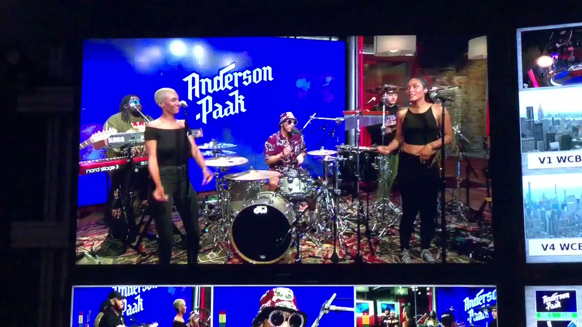 The view from the Control Room: @AndersonPaak on @CBSThisMorning #SaturdaySessions