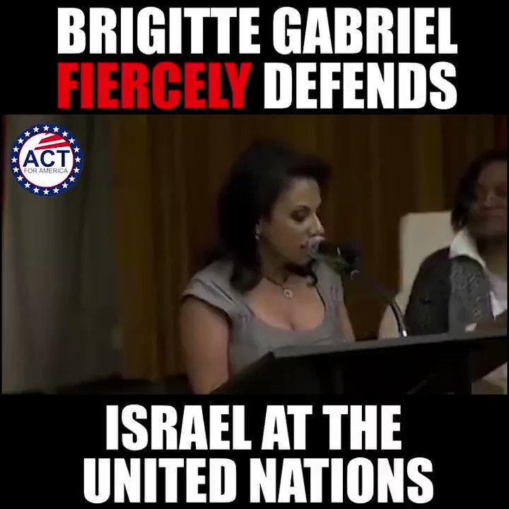 Brigitte Gabriel STANDS UP for Israel!