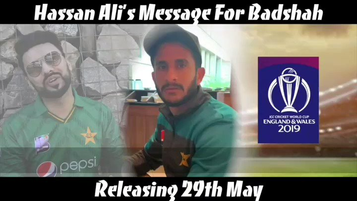 Thanks to brother @RealHa55an for his lovely wishes on my upcoming song Badshah releasing 29th May
