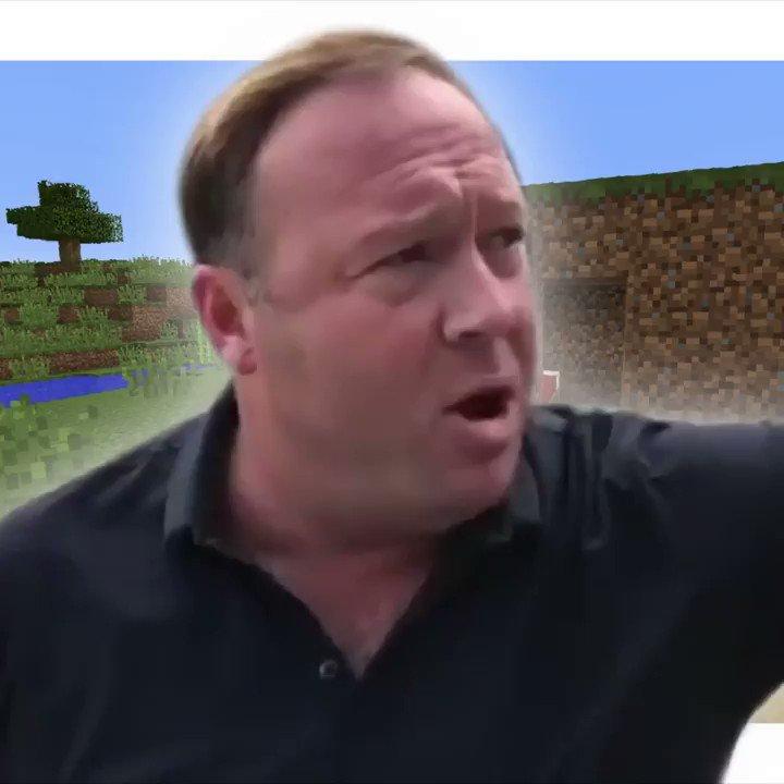 Alex Jones Is Bad at Minecraft