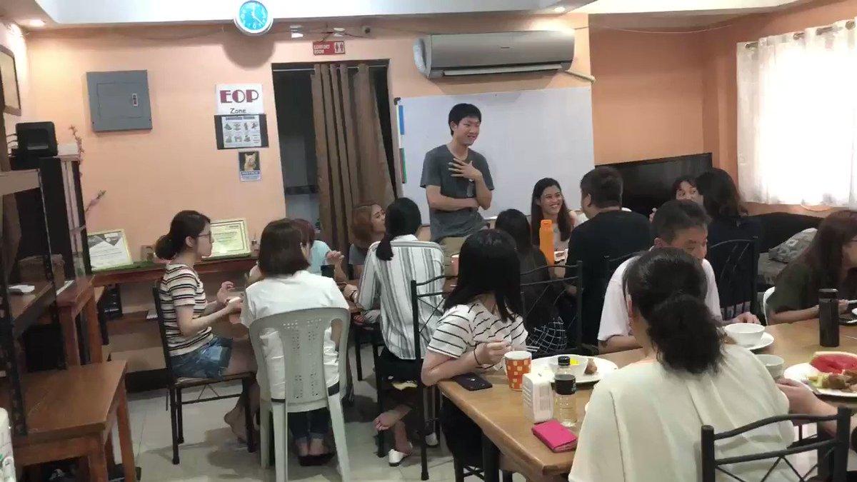 新生徒さんの自己紹介スピーチ事前にちゃんと予習をしてきてくれました◎これから半年間で英語を伸ばします!フィリピン留学のメリットなど#フィリピン留学 #英会話