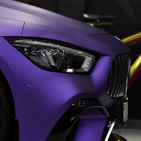 Taking you back to where it all began.  Step 1 to #Purplization.  Huge thanks to @wrapstyle_dubai for beautifully wrapping our four Mercedes-AMG GT 63 S 4MATIC+  For the full story, visit the link in our bio!  #ThePurpleTeam #PurpleReign  @emirates @Pirelli @MercedesDubai