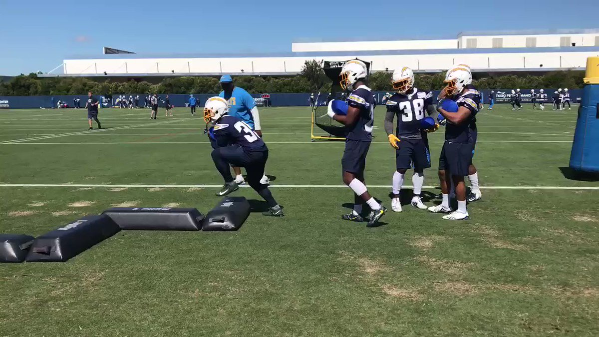 Running backs minus Melvin Gordon at #Chargers OTAs