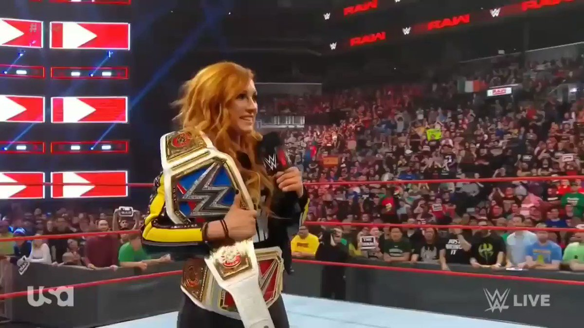 You'll ALWAYS be #TheMan #StraightFire #Becky2Belts 🤘🏼🔴🏆🔵🏆🙌🏼 #ChampChamp Forever‼️#OwnedRonnieandCharlotte #wrestlemania35 #PeoplesChamp We Love You BECKY #TheMansArmy ❤️💚🔥🔥🧡❤️