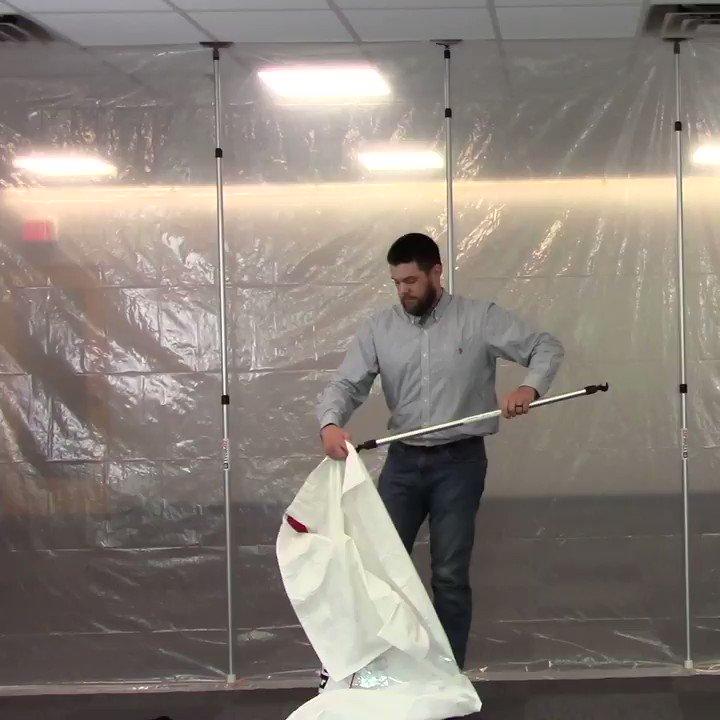 Image for the Tweet beginning: The self-closing ZipWall® Magnetic Door