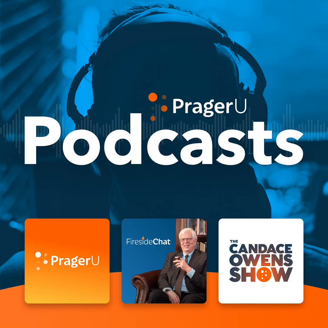 Image for the Tweet beginning: THREE hit podcasts at PragerU,