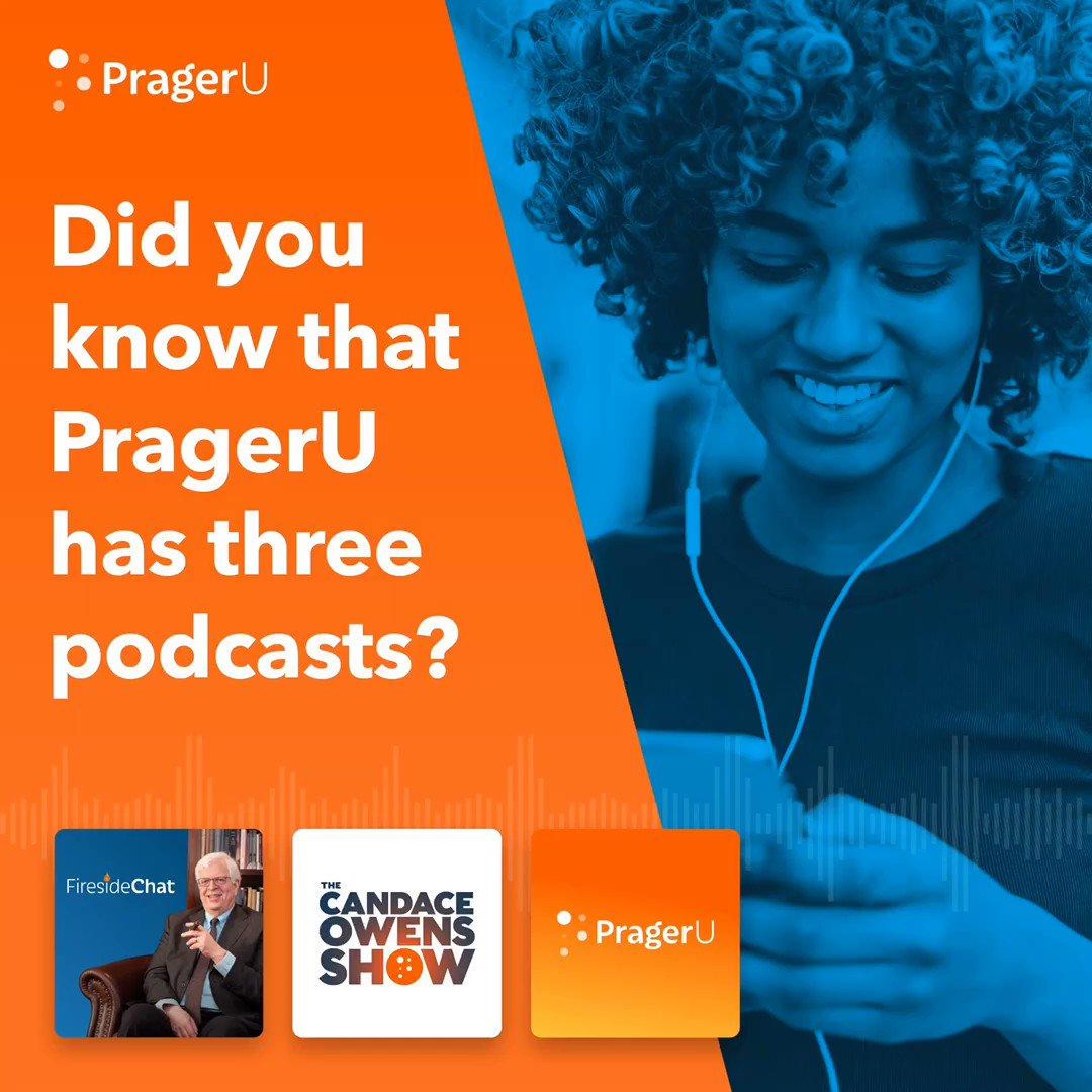 Image for the Tweet beginning: THREE hit podcasts at PragerU,