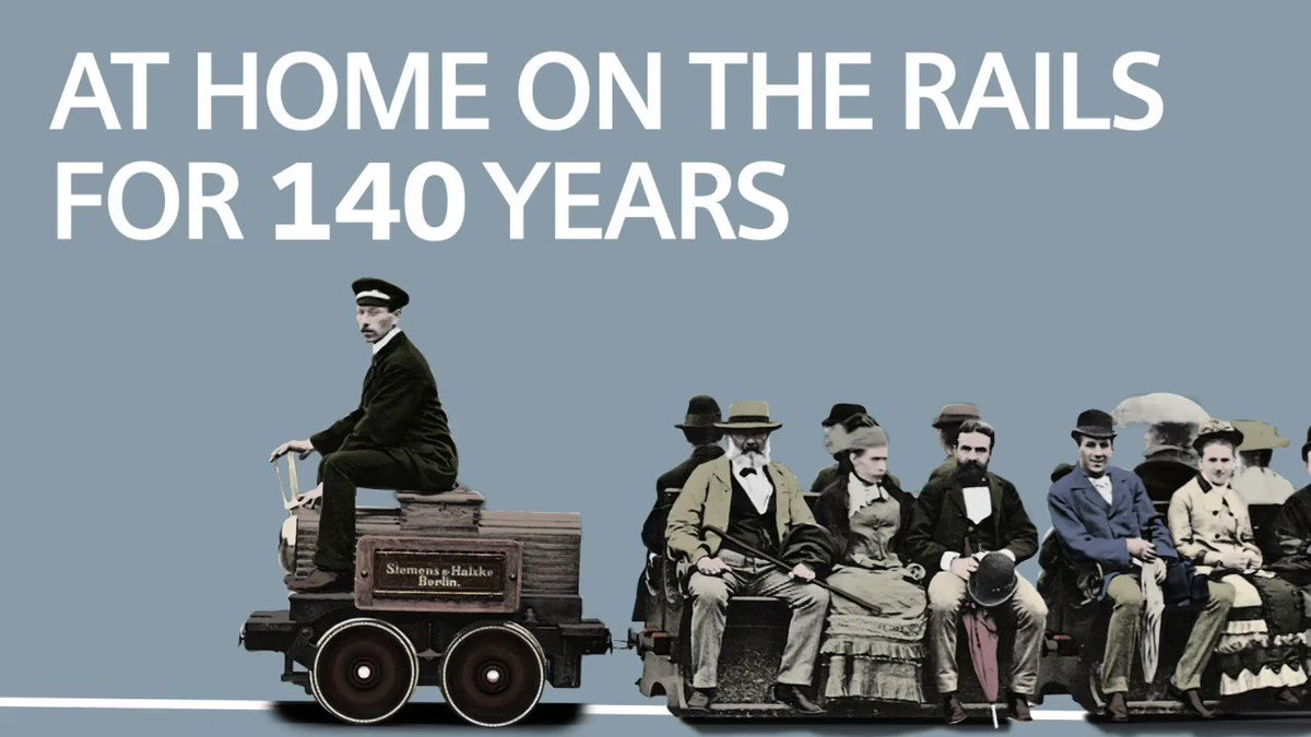 #onthisday 140 years ago Werner von Siemens invented a new means of transport – the first electric railway. Take a seat, relax and join us travelling back in time to the invention that changed the world. http://siemens.com/140years-electric-railway … #siemenshistory #eMobility