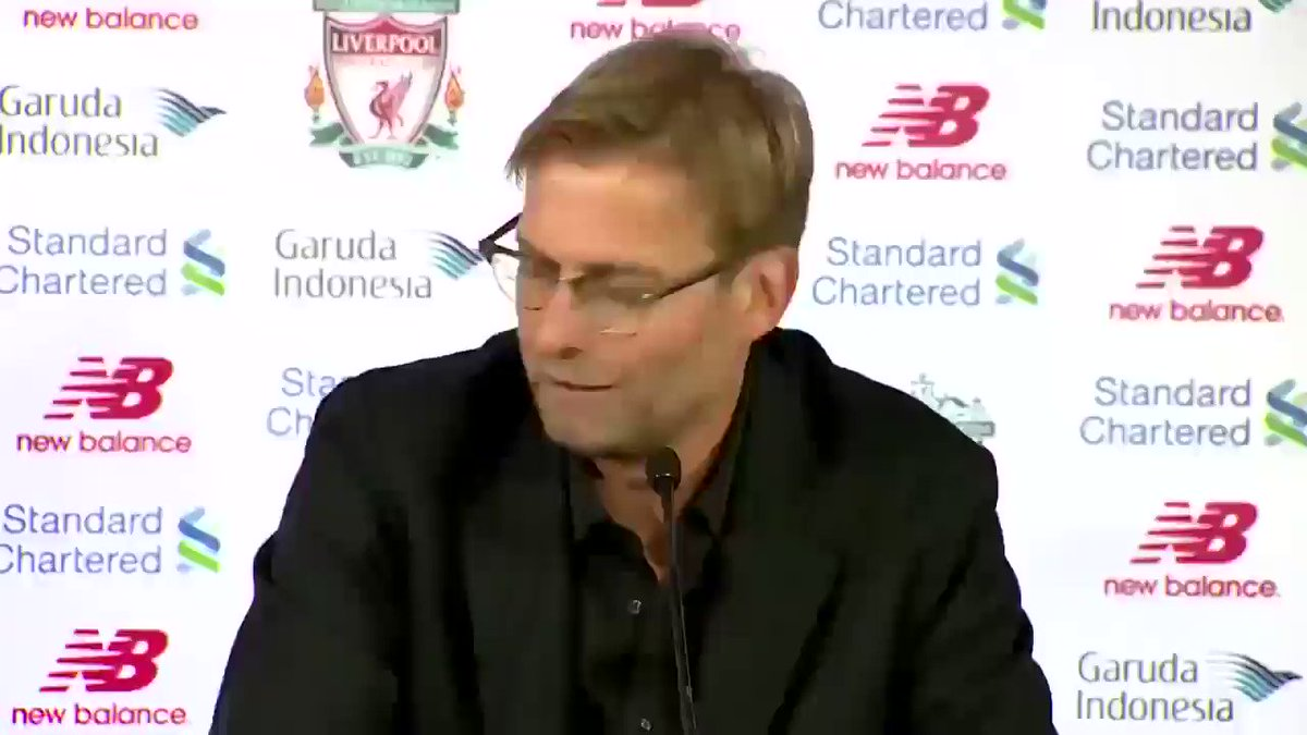 "Jürgen Klopp's first press conference: ""I believe after 4 years we would have won a trophy. In fact I'm sure of it.""   You delivered on your promise. #LFC  Thank you, Jurgen"