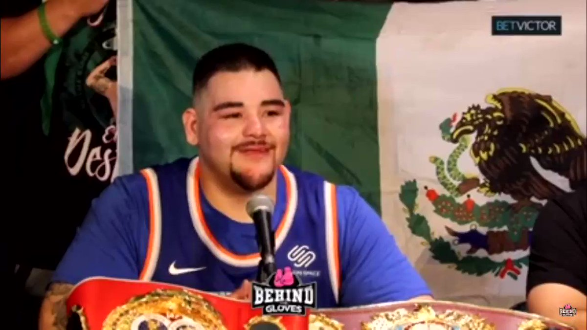 """🗣""""MOM, OUR LIVES ARE GOING TO CHANGE! NO MORE STRUGGLING!""""   -Andy Ruiz emotional after KO'ing Anthony Joshua ‼️  Watch FULL Post fight Press Conference ⬇️  🔗 