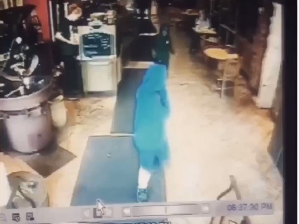 Coffee Store Employee Slams Kid To The Ground Who Appeared To Be Stealing