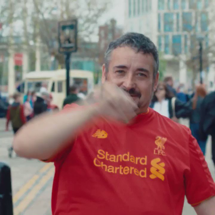 @LFC are the Champions of Europe! What #TweetVictory. We are celebrating together. Watch as we #StandRed in celebration launching your support skyhigh. Just like @LFC at @StanChart we never settle