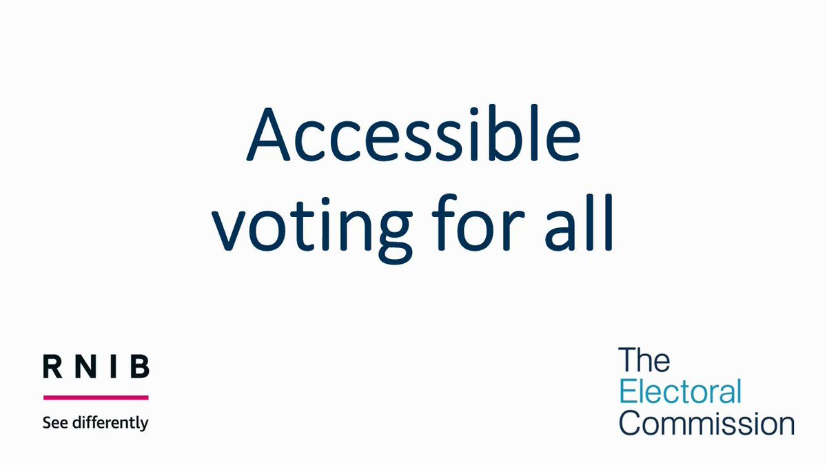 Our research shows 65% of people with a disability think that elections are well run. Hugh, a campaigner for RNIB, has shared his voting experience. Our 'Elections for Everyone' report sets out our recommendations for improving accessibility at elections: electoralcommission.org.uk/find-informati…