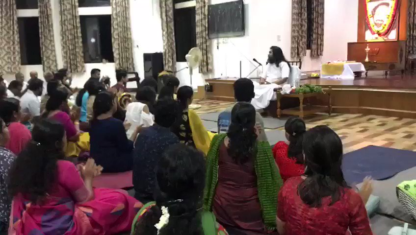After almost 3 years , participated in a Satsang in @ArtofLiving Keralashram in Trivandrum 🙏 @SriSri
