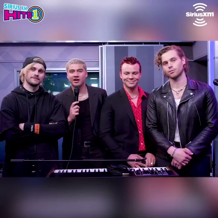 .@5SOS stopped by to chat with the @MorningMashUp crew and perform some of our favorite songs! Hear their full visit On Demand on @SiriusXMHits1. #Easier