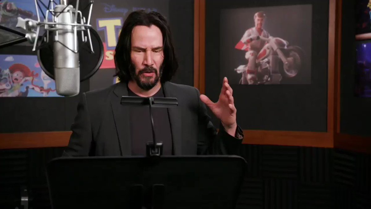 EXCLUSIVE! Behind the scenes 🎬TOY STORY 4 Tom Hanks BTS  Keanu Reeves - by Fab TV (#KeanuReeves part) #ToyStory4 #DukeCaboom #BehindtheScenes  11:04 video on YouTube 👇 https://youtu.be/hJQgla8kLe4