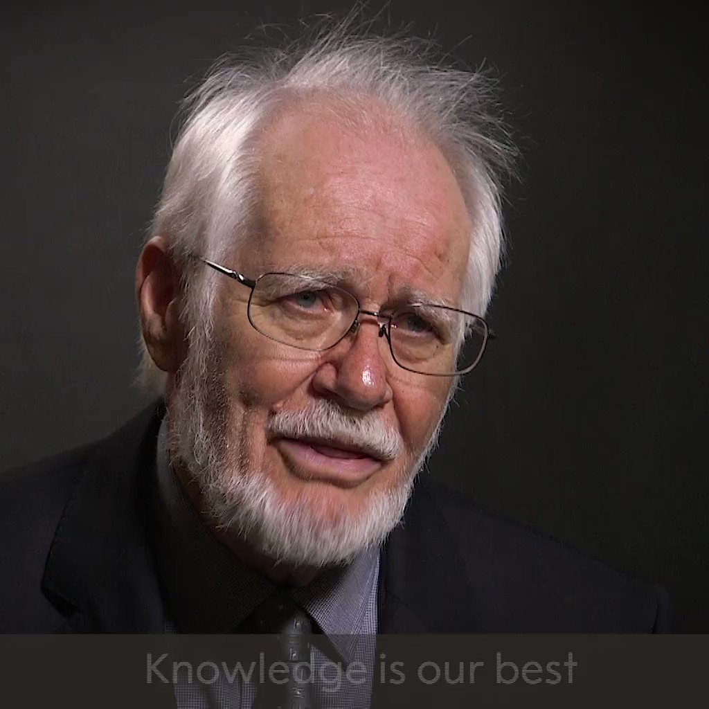 'Knowledge is our best common good.' Happy birthday to 2017 Chemistry Laureate Jacques Dubochet!