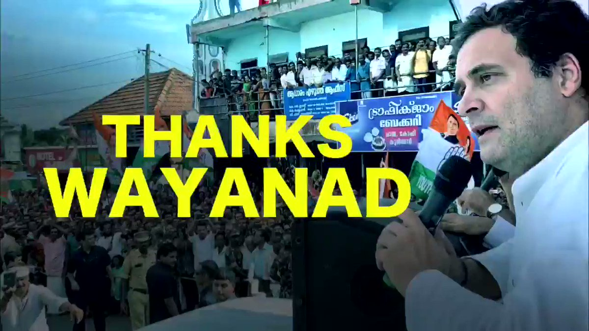 I spent the past few days travelling through Wayanad, Kerala, that I will represent in Parliament as MP. I want to thank the people of Wayanad who showed up in large numbers to greet me. I assure you of my commitment to work with you to solve as many of your problems as I can. 🙏