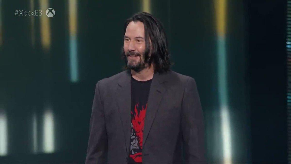 """Uno de los MEJORES MOMENTOS de toda la conferencia de #XBOXE3:   """"YOU'RE BREATHTAKING!"""" Keanu Reeves, nos quitas el aliento"""
