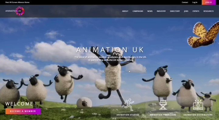 Our ✨BRAND NEW✨ site for both @UKScreenAlln + Animation UK is now live! visit http://animationuk.org to find out about animation UK's campaigns, links & info on careers in #animation, upcoming events for animation trade & festivals & how to join animation UK as a member 🎉🎉🎉