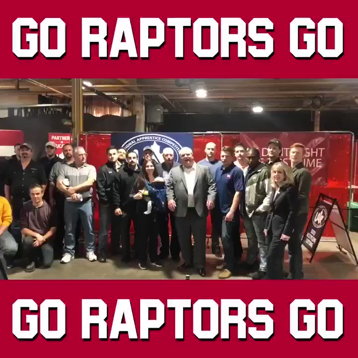 Happy to join the great apprentices at @local46 to say Go @Raptors Go! #WeTheNorth #NBAFinals