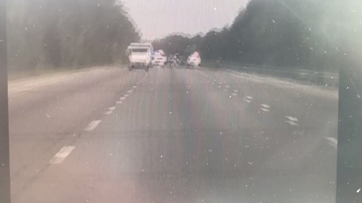 #MailTruck #Carjacking Believe it!  This is Melanie Morales' cell phone video of the chase Saturday coming to an end on I-95.  Remarkably, suspect Jesse Estep was not seriously hurt. @WESH @VolusiaSheriff @FlaglerSheriff @HollyHillPolice @ormondbeach
