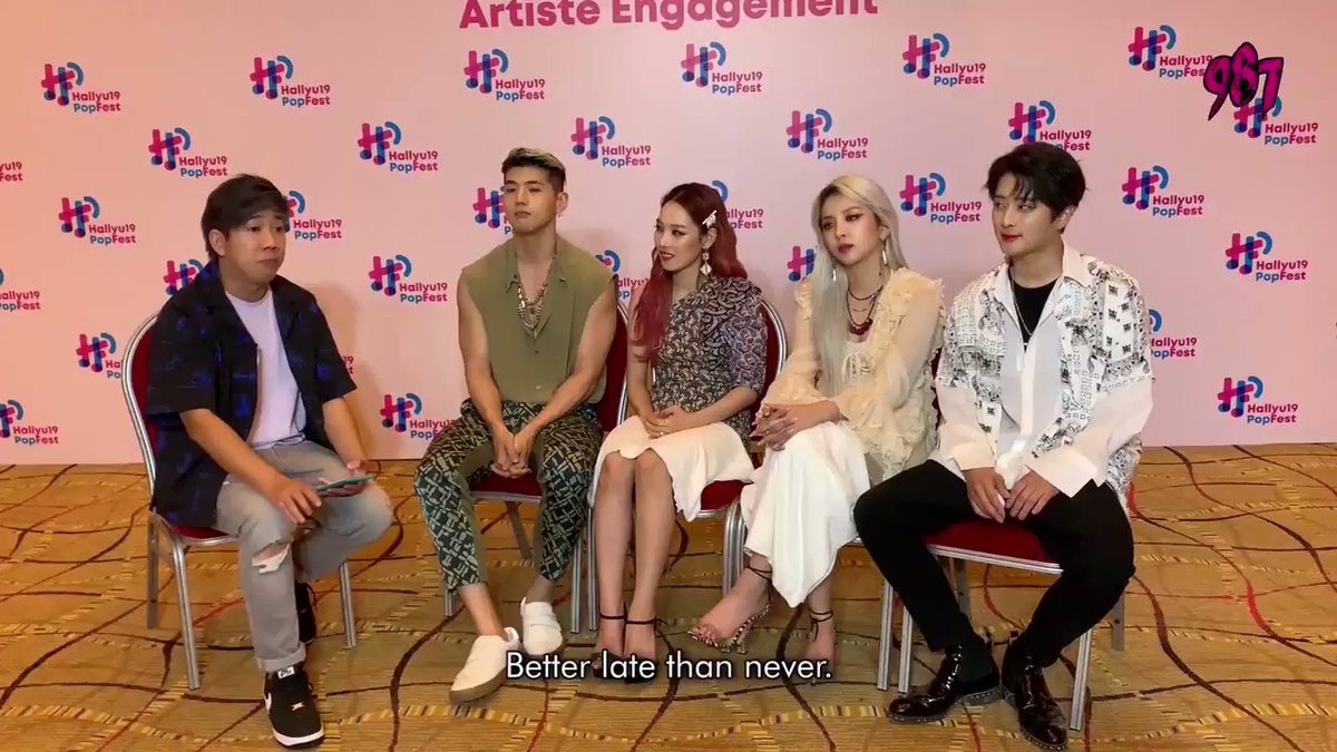 We sat down and spoke to @KARD_Official when they were here in Singapore & we had a great time spilling some tea. We found out which member shops the most, sleeps the most, is always late & who forgets the lyrics. Click here to watch the full vid: facebook.com/143098527028/p…