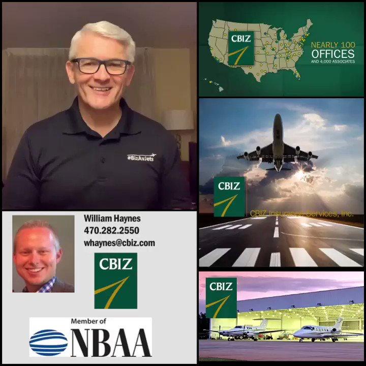 #Thanks #WilliamHaynes @cbiz #BizAv #BizAvJets #BizAvWorks  #AviationInsurance #Aviation #Insurance