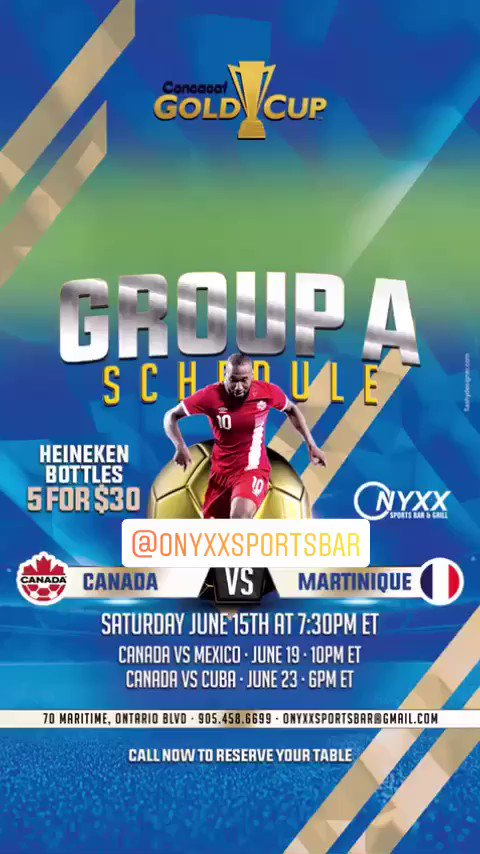 Catch our #goldcup games live @OnyxxSportsBar 🇨🇦