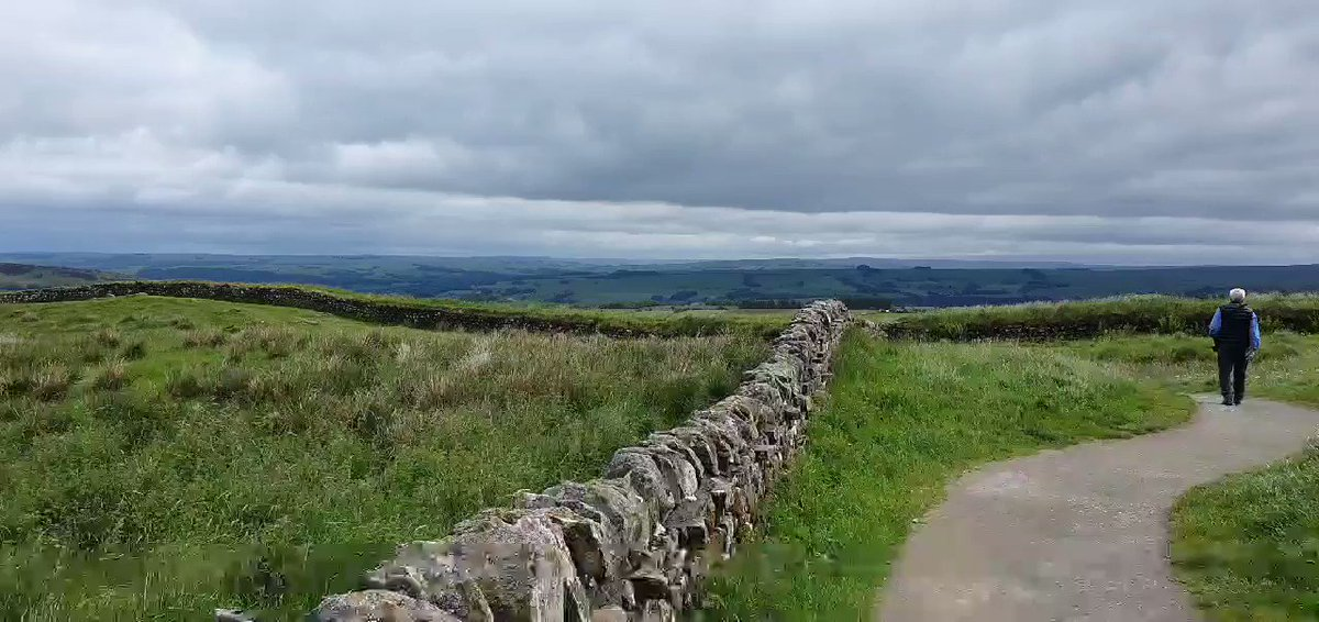 Image for the Tweet beginning: Great view of Hadrians Wall