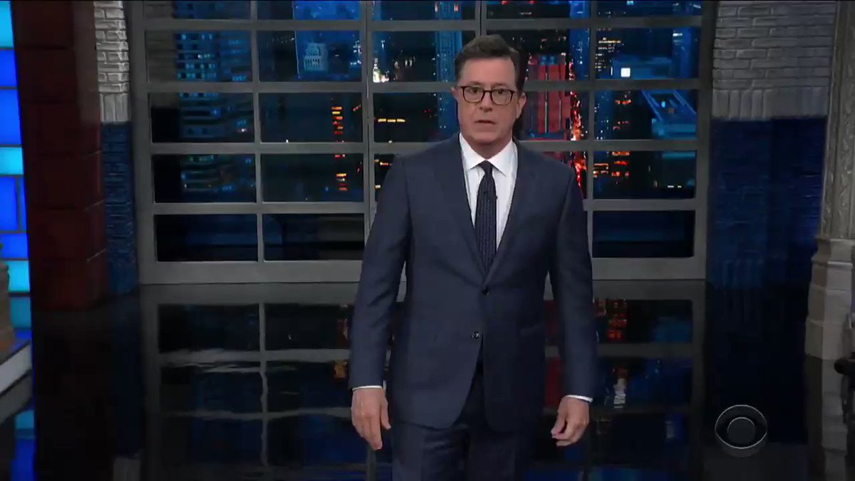 'Shoebiz' is a tough gig, but someone's gotta do it 😎 @colbertlateshow https://t.co/r4KwLRNhL3