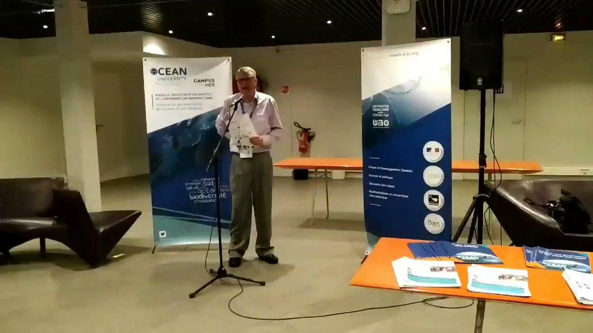Image for the Tweet beginning: Denis Bailly, coordinator of @OCEAN_univ