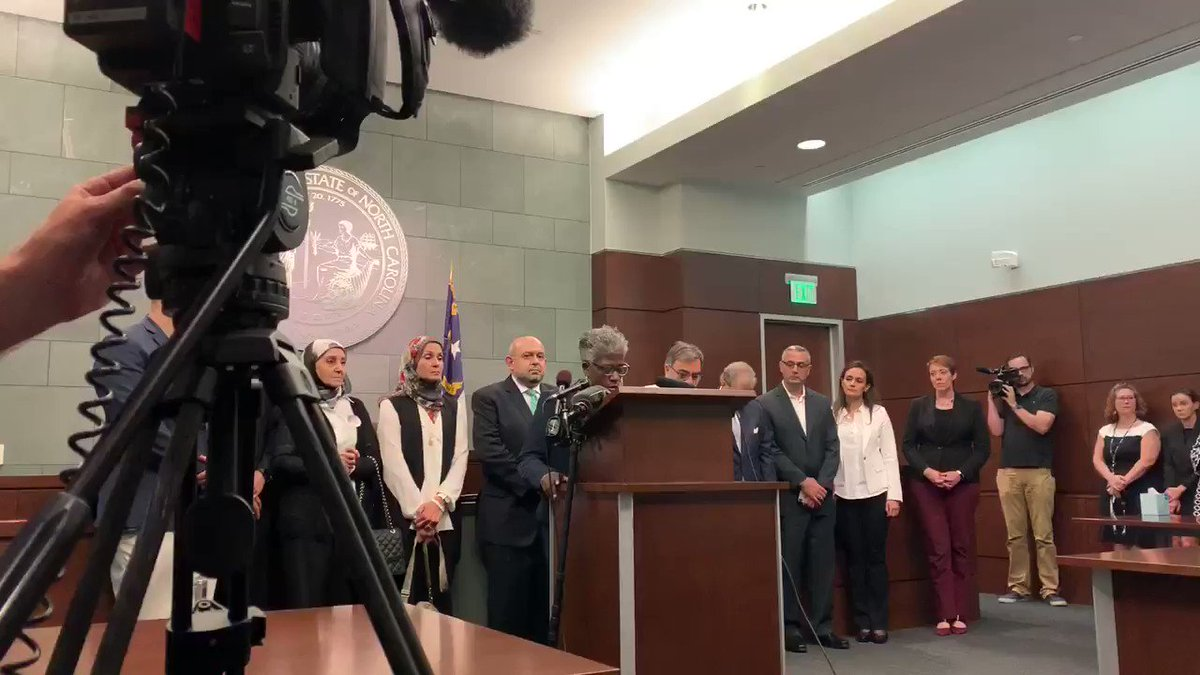 Durham Co. DA speaks after Craig Hicks guilty plea in Chapel Hill murders of 3 Muslim students, turns focus of case to Deah Barakat + Yusor & Razan Abu-Salha and their dedication to making a difference and their legacy that continues through the efforts at @LHProj in SE Raleigh