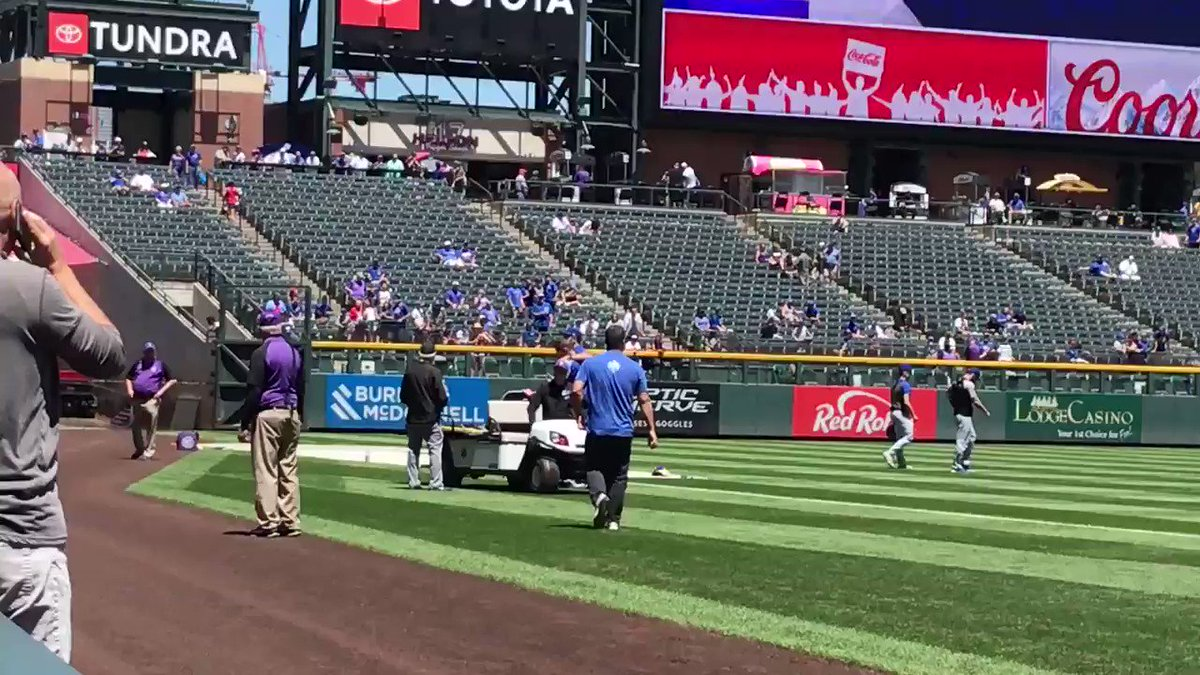 Video: Cubs Pitcher Carted Off The Field After Getting Hit In Warmups