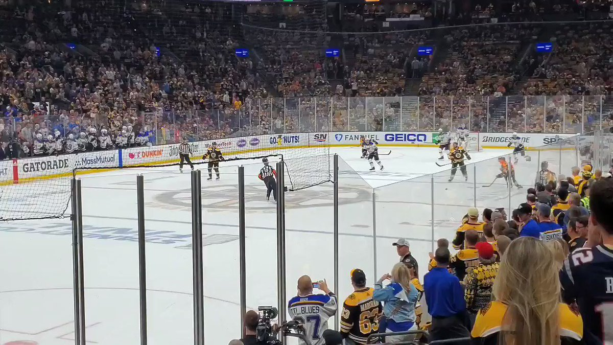 #stlblues win their first ever #StanleyCup beating #NHLBruins 4-1 in #Game7. Rookie Jordan Binnington steals the show.