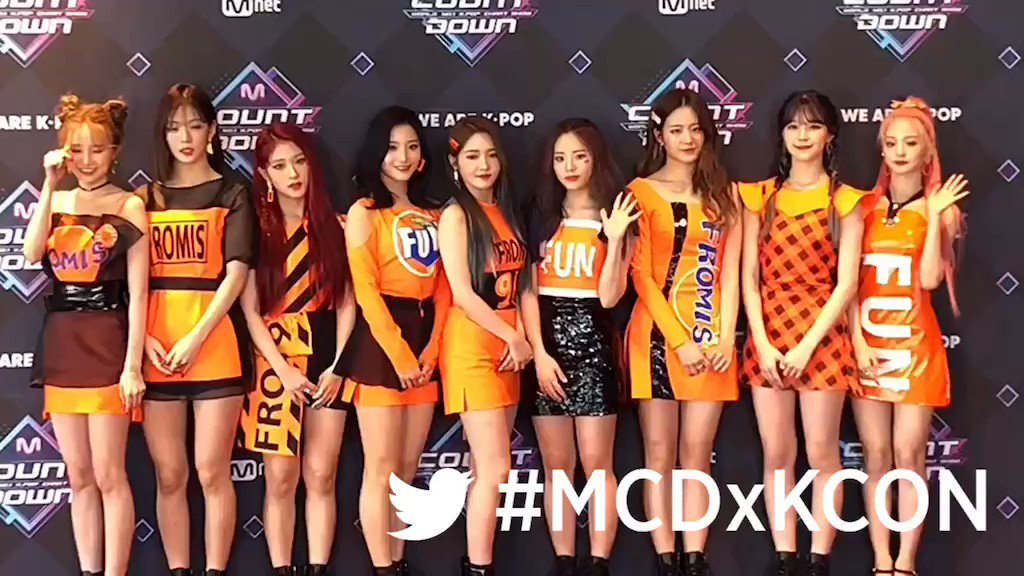 Yeah #fromis_9 is here!  See you in #KCON19NY  #MarketerK #MCDxKCON #KCON2019 #MCOUNTDOWN @realfromis_9