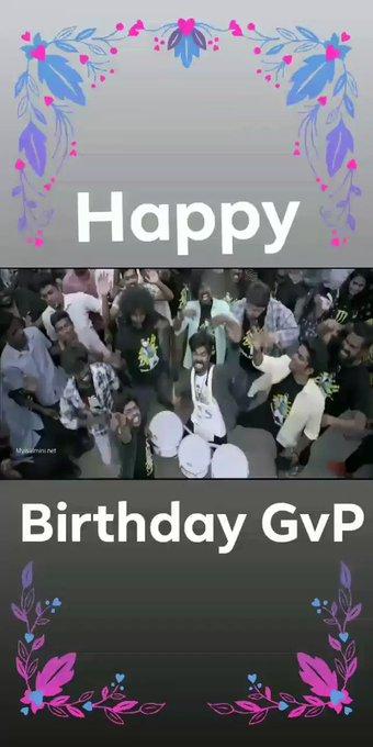 Happy birthday Darling Gv prakash Kumar