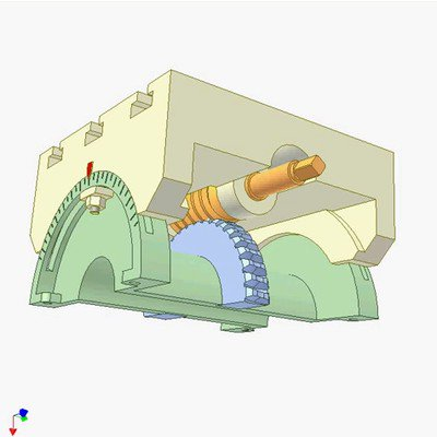 Worm Drive - Rotating and Rolling Worm