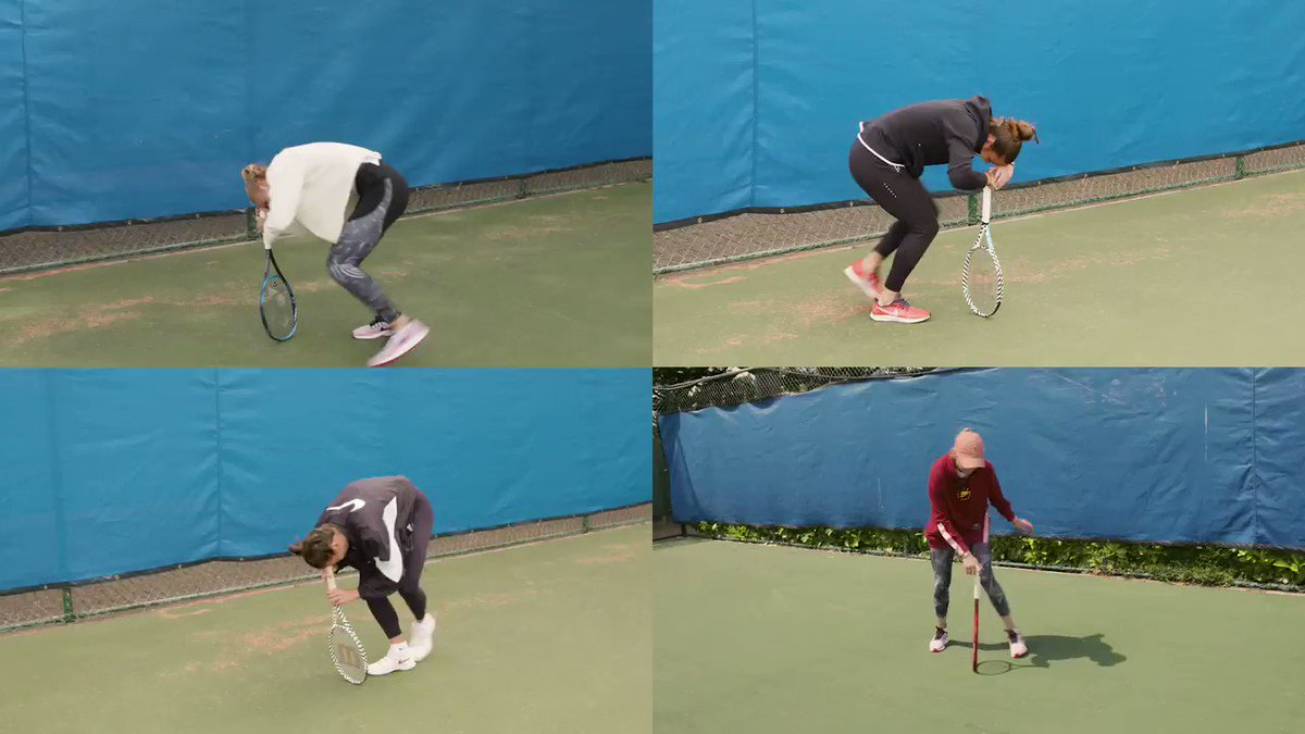 It's time for the #DizzyTennis Challenge! 🥴🎾  Choose your winner from @Katieswan99, @DonnaVekic, @mariasakkari & @Ajlatom 🤣🤣  Over to you 👉 http://bit.ly/31qU9c5