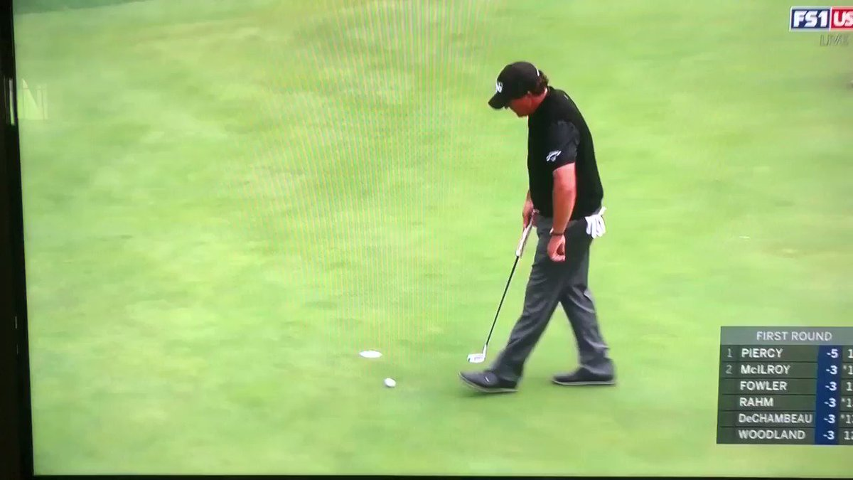 U.S. Open 2019: Watch Phil Mickelson miss one of the shortest putts of all time at Pebble Beach