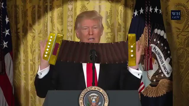 Add an accordion & Donald is suddenly fun to watch #TAIRP #INDIGENOUS  @POTUS @realDonaldTrump