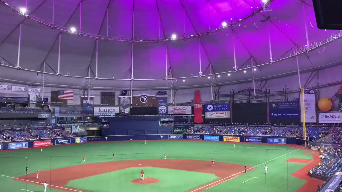 The power outage at Tropicana Field led to some fascinating fan camerawork
