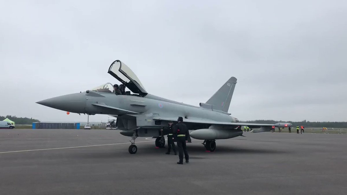 #Eurofighter has arrived in #Turku! Who's excited for tomorrow's display? Come and see Eurofighter #bringthenoise @TurkuAirshow this Saturday and Sunday @TyphoonDisplay #TurkuAirshow