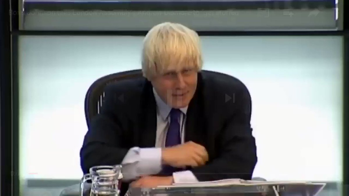 "Astonishing footage of Boris Johnson being told about the cuts he made to London Fire Brigade when Mayor. His reply? ""Get stuffed."" Grenfell wasn't long after. Prime Minister? Don't be daft."