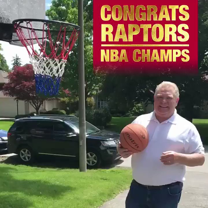 Congrats to the Toronto @Raptors for bringing an NBA Championship home and making Canada proud! #WeTheNorth