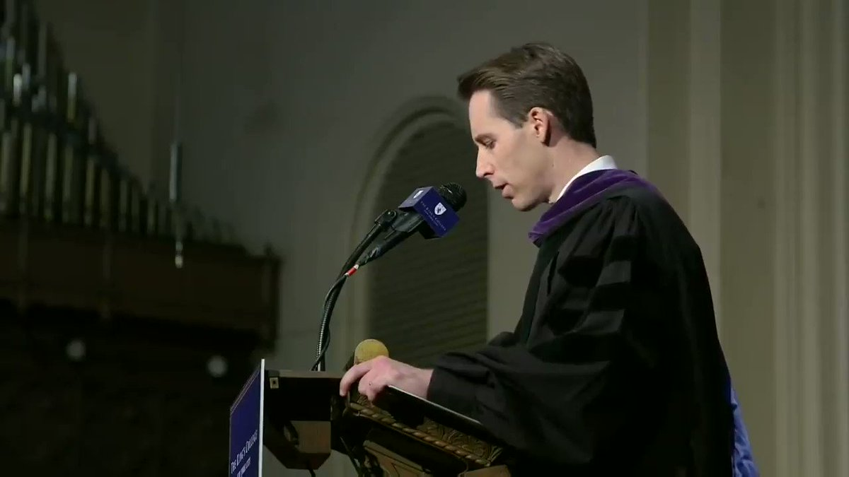 """Senator @HawleyMO on the Elites dismissal of the concerns of the Working Class:   """"Now I rather suspect, it's just a hunch, that if globalization threatened America's tech industry or its say banking sector that we would hear a different tone."""" 2/"""