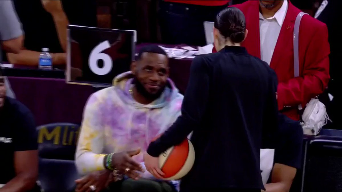 LeBron, Chris Paul and Russell Westbrook chill court side at WNBA game